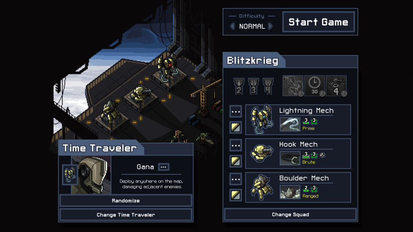 Into the Breach crew screen