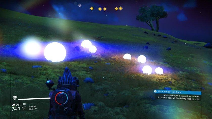 bright orbs